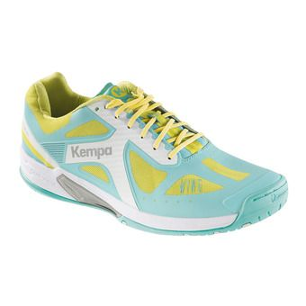 Kempa WING LITE - Zapatillas de balonmano mujer turquoise/yellow spring