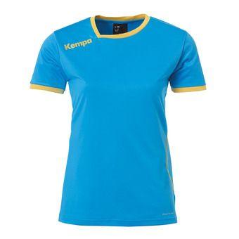 Camiseta mujer CURVE azul kempa/dorado