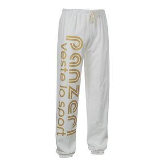Pantalon jogging UNI H blanc/or