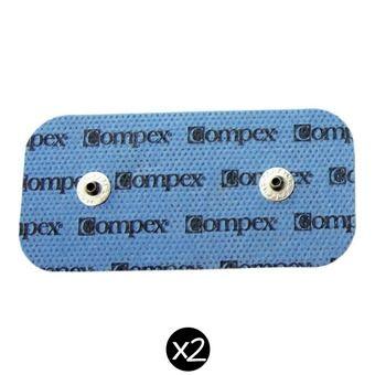 Pack de 2 électrodes avec 2 connecteurs PERFORMANCE SNAP 5cm x 10cm