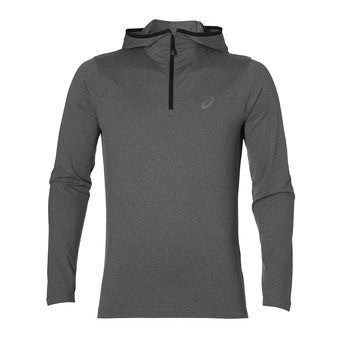 Sweat à capuche homme LS dark grey heather