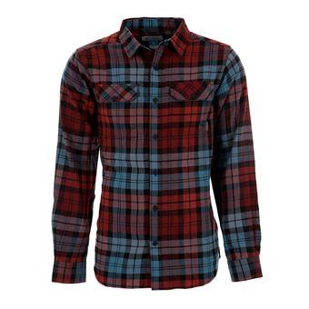 Camisa hombre FLARE GUN™ FLANNEL III blue heron blanket plaid