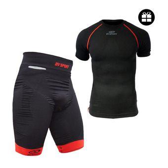 Cuissard CSX noir + maillot MC TECH offert