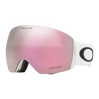 Oakley FLIGHT DECK - Maschera da sci matte white/prizm hi pink iridium