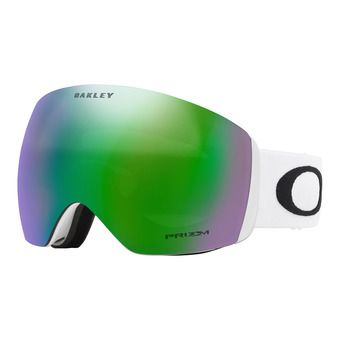 Oakley FLIGHT DECK - Ski Goggles - matt white/prizm jade iridium