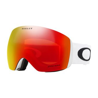 Oakley FLIGHT DECK - Gafas de esquí matte white/prizm torch iridium