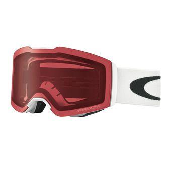Oakley FALL LINE - Ski Goggles - matt white/prizm snow pink