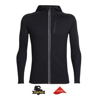 Sweat zippé à capuche homme QUANTUM black