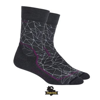 Calcetines mujer HIKE+ LIGHT CREW stealth/vivid/black