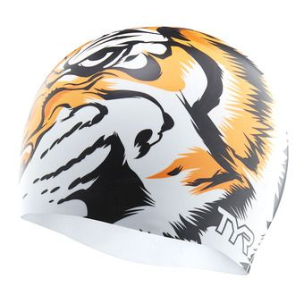 Tyr TIGER - Gorro de natación white/orange