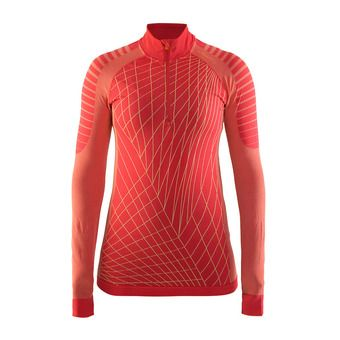 Sous-couche ML 1/4 zip femme BA INTENSITY poppy/sprint