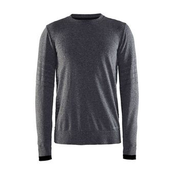 Sweat homme SMOOTH CR noir/chiné