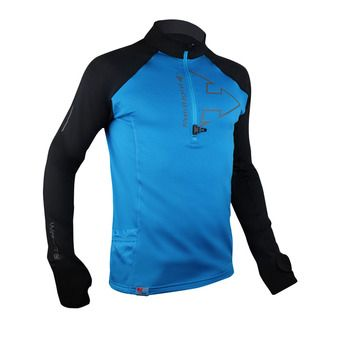 Maillot 1/2 zip ML homme WINTERTRAIL electric blue/black