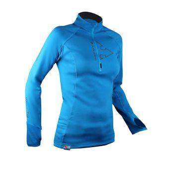 Camiseta mujer WINTERTRAIL azul eléctrico