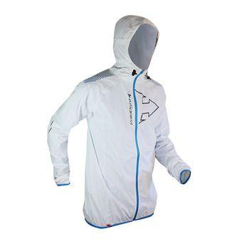 Veste à capuche homme HYPERLIGHT MP+ white/electric blue
