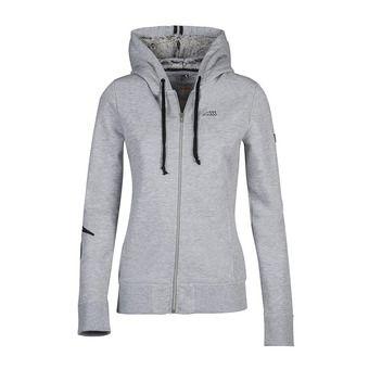 Sweat zippé à capuche femme MIA melange grey