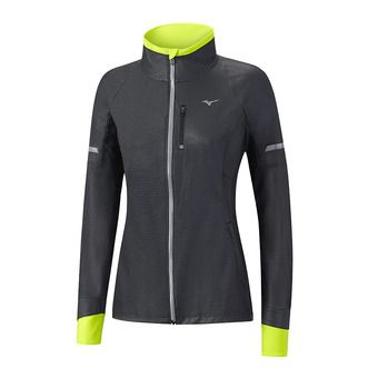 Chaqueta mujer STATIC BT WINDPROOF black/safety yellow