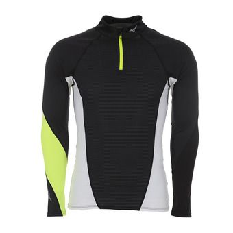 Maillot ML 1/2 zip homme VIRTUAL BODY G1 black/safety yellow