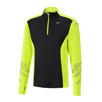 Maillot ML 1/2 zip homme VORTEX WARMLITE black/safety yellow