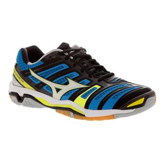 Zapatillas indoor hombre WAVE STEALTH 4 directoire blue/white/safety yellow