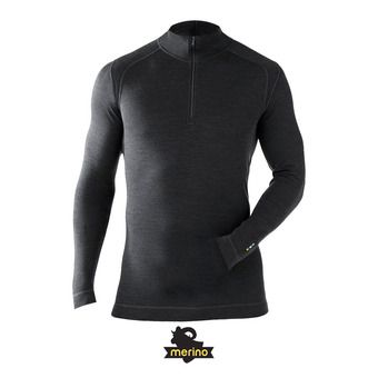 Sous-couche 1/4 homme zip MERINO 250 charcoal