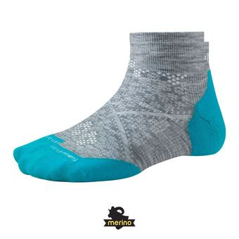 Calcetines mujer PHD RUN LIGHT ELITE LOW light gray/capri