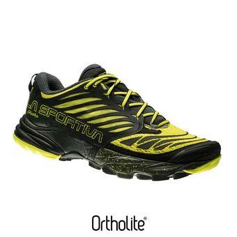 Chaussures trail homme AKASHA black/sulphur