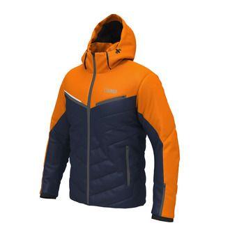 Chaqueta de esquí hombre KANDAHAR marino naranja