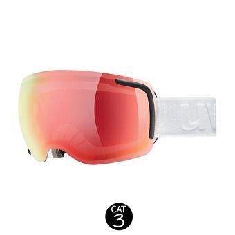 Masque de ski BIG 40 VFM white mat/mirror red variomatic® clear