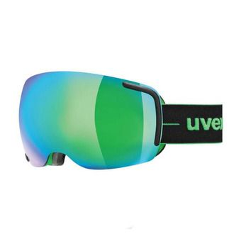 Uvex BIG 40 FM - Masque ski black green mat/mirror green clear