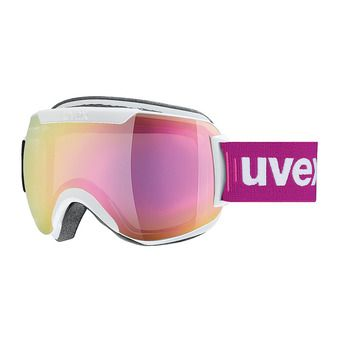 Masque de ski DOWNHILL 2000 FM white mat/mirror pink clear