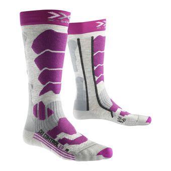 Calcetines de esquí mujer CONTROL 2.0 grey/violet