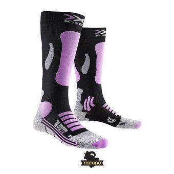 Calcetines de esquí mujer TURING 2.0 black/pink