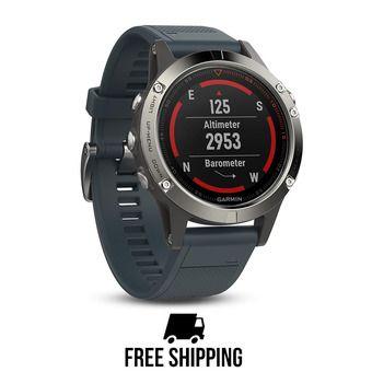 Montre GPS Fenix 5 bleu granit