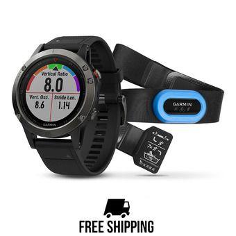 Montre GPS Fenix 5 gris + capteur HRM-Tri
