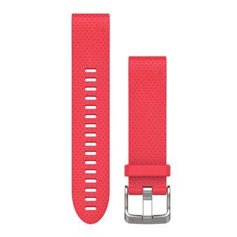 Bracelet silicone QUICKFIT pour montre GPS Fenix 5S rose