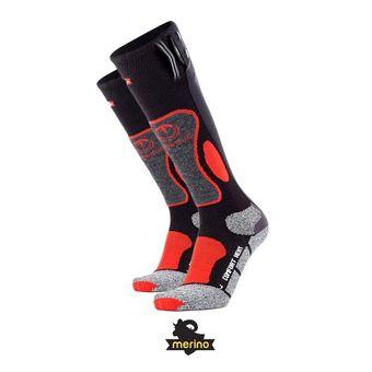 Chaussettes chauffantes homme POWERSOCKS HEAT noir/rouge