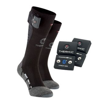Chaussettes chauffantes POWER MULTI noir + batteries Bluetooth 700