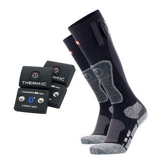 Chaussettes chauffantes POWER UNI noir/gris + batteries Bluetooth 1400