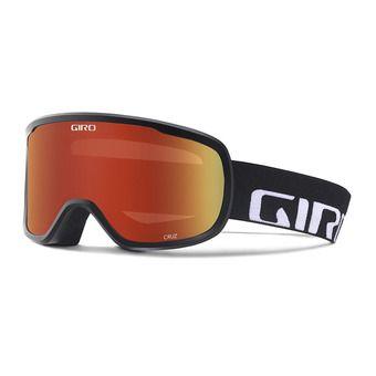 Gafas de esquí CRUZ black wordmark - amber scarlett