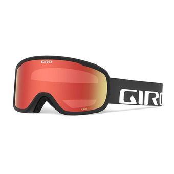 Goggles - CRUZ black wordmark - amber scarlett