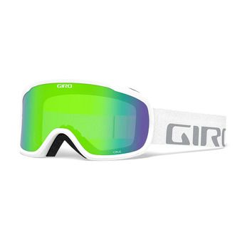 Giro CRUZ - Maschera da sci white wordmark loden green
