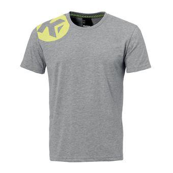 Tee-shirt MC homme CAUTION gris clair chiné