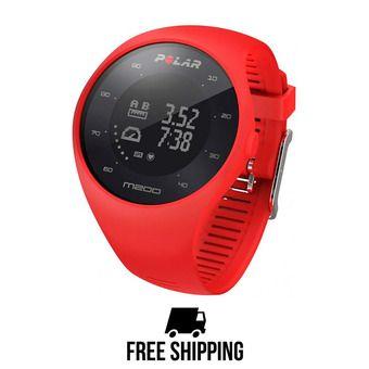 Montre cardio connectée M200 GPS rouge