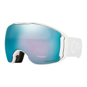 Masque de ski + écran supplémentaire AIRBRAKE XL polished white/prizm sapphire iridium & prizm hi pink iridium