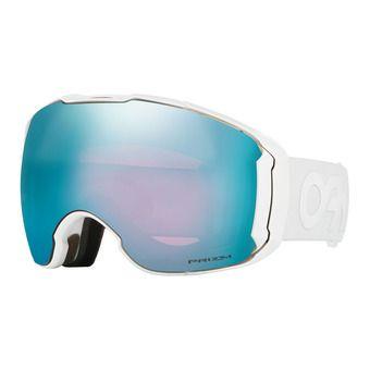 Oakley AIRBRAKE XL - Gafas de esquí polished white/prizm sapphire iridium/prizm hi pink iridium