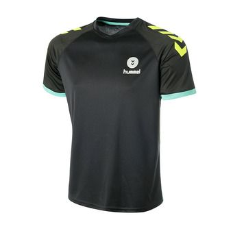 Hummel TROPHY - Camiseta hombre black/yellow