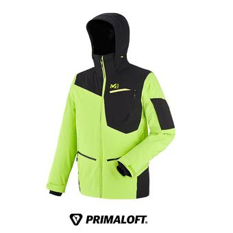 Chaqueta de esquí hombre IKAM STRETCH acid green/black