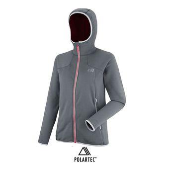Veste à capuche Polartec® femme LD POWERGRID tarmac