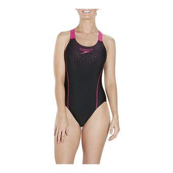 Speedo GALA MEDALIST - 1-Piece Swimsuit - Women's - black/pink